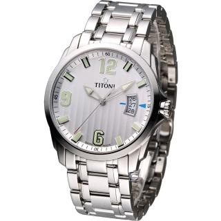 【TITONI 梅花錶】Jetstream 翱翔時尚 紳士錶(TQ53959S-504)