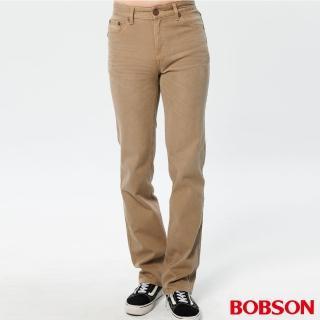 【BOBSON】男款熱感IN直筒褲(卡其72)