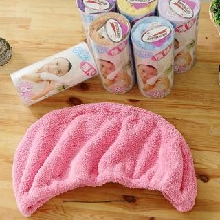 【米夢家居】台灣製造水乾乾SUMEASY開纖吸水紗-快乾護髮浴帽(粉+紫)