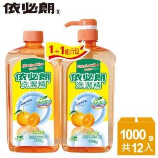 【依必朗】柑橘洗潔精1000g+1000g*6組(買3組送3組)