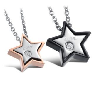 【I-Shine】牛郎織女星情侶鈦鋼項鍊(對鍊組)
