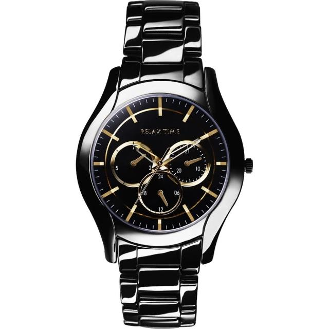 【Relax Time】嶄新系列日曆女錶-黑x金/37mm(RT-35-3-6L)哪裡買便宜?