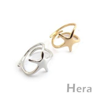 【Hera】赫拉 線條五角海星開口戒指/微調戒(二色任選)