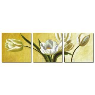 【123點點貼】三聯式 創意無痕壁貼 壁飾(花朵)