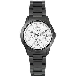【LOVME】極品時尚三眼腕錶(IP黑x白圈)