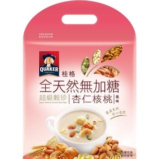 【QUAKER 桂格】全天然100%無加糖超級穀珍系列-杏仁核桃(25g*10入)