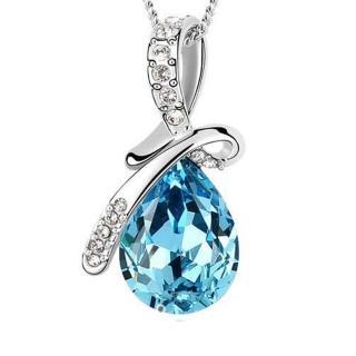【I.Dear Jewelry】天使之淚-藍水晶晶鑽水滴項鍊(天使之淚-藍鑽)