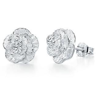 【I-Shine】櫻花紛飛-櫻花造型鍍純銀耳環