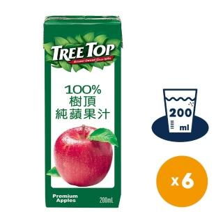 【Tree Top】樹頂100%蘋果汁200ml*6入