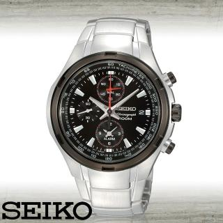 【SEIKO 精工】飆速競感_賽車三眼計時腕錶(SNAE43P1)