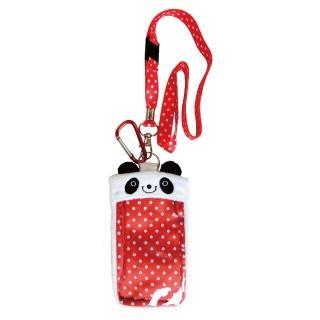 【UNIQUE】動物樂園毛絨手機背袋(圓仔)