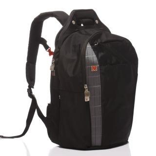 【eeBag】旅行休閒全能護腰透氣17吋電腦包(銀)