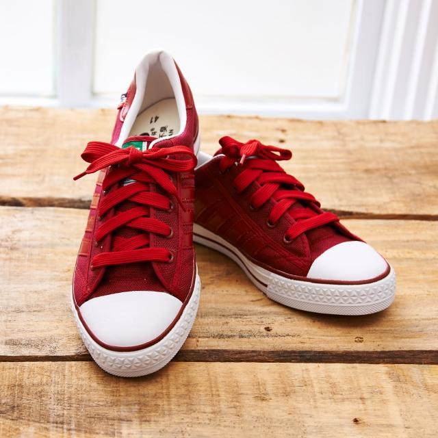 【中國強】MIT 百搭休閒帆布鞋CH83(紅)