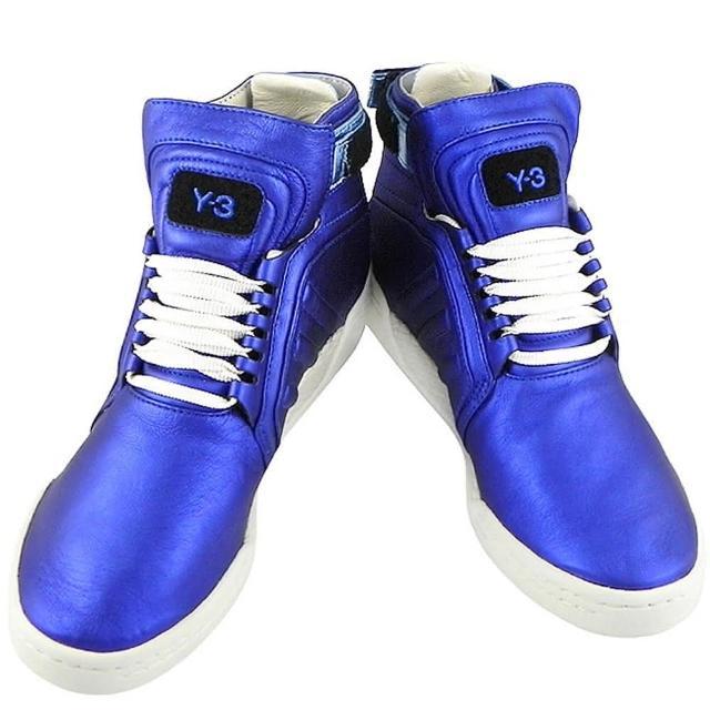 【Y-3山本耀司】真皮中筒造型靴-US 7.5號(亮藍色)優質推薦