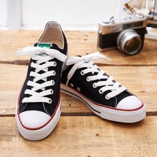 【中國強】MIT 素面休閒帆布鞋CH66(黑色)