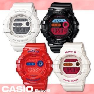 【CASIO 卡西歐 Baby-G 系列】繽紛夜光運動風多彩女錶(BGD-140)