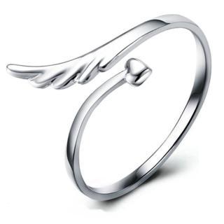 【I-Shine】尋夢-925純銀翅膀造型 開口戒指