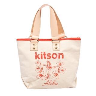 【Kitson】夏威夷風真皮背帶托特包M(RED)
