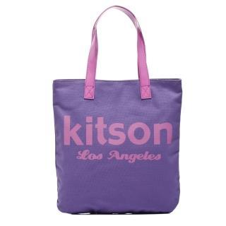 【Kitson】美式學院風方型托特包(PURPLE)