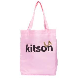 【Kitson】L.A.-LOGO購物袋/托特包(粉紅)