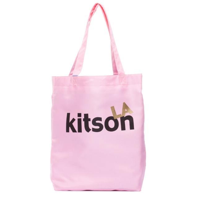 【Kitson】L.A.-LOGO購物袋/托特包(粉紅)限量出清