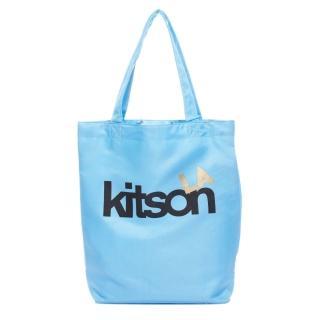 【Kitson】L.A.-LOGO購物袋/托特包(水藍)