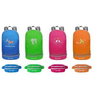 【PUSH! 戶外登山旅遊用品】可當腰包登山背包騎行包旅行包萬用旅行袋收納袋(一入U30)