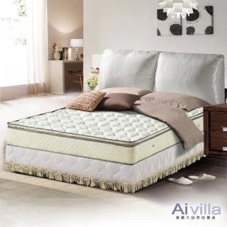 【Ai-villa】正三線立體加厚緹花布獨立筒床墊(雙人加大)