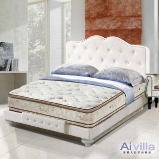 【Ai-villa】六星級舒柔布正四線雙面膠獨立筒床墊(單人加大)