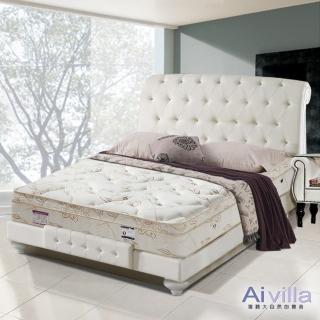 【Ai-villa】六星級舒柔布記憶膠三線獨立筒床墊(雙人加大)