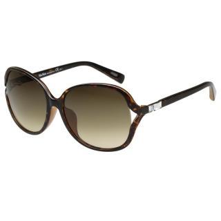 【MaxMara】-圓面簍空水鑽 太陽眼鏡(琥珀色)