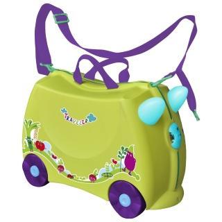 兒童可乘式遊戲車行李箱(黃綠)