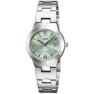 【CASIO 卡西歐】都會優雅氣質時尚腕錶(綠/25mm)