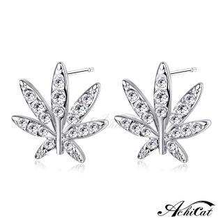 【AchiCat】耳環 正白K 秋意 耳針式 抗過敏鋼針 施華洛世奇元素 銀色款*一對價格*G4071(銀色)