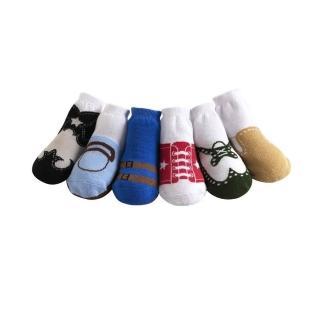 【美國 Jazzy Toes】時尚造型棉襪/止滑襪/假鞋襪/嬰兒襪_六雙入禮盒組_基本款綜合造型襪(JT6-16)