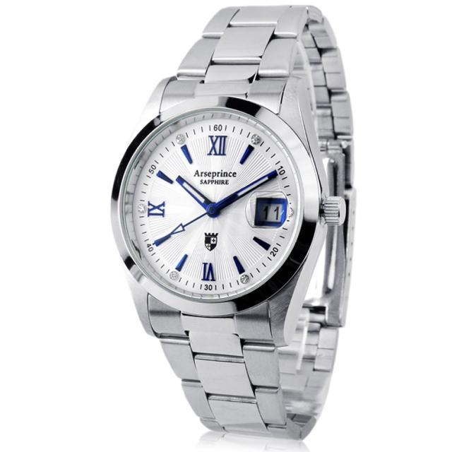 【Arseprince】紳士典藏尊榮時尚中性錶(藍)