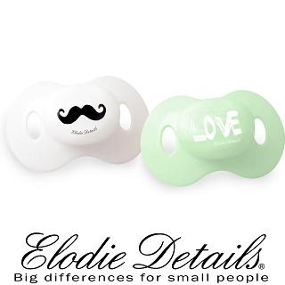 【瑞典ELODIE DETAILS】雙入安撫奶嘴組(Mustache LOVE)售完不補