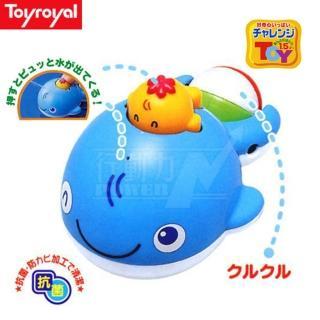 【日本《樂雅 Toyroyal》】洗澡玩具(噴水鯨魚)