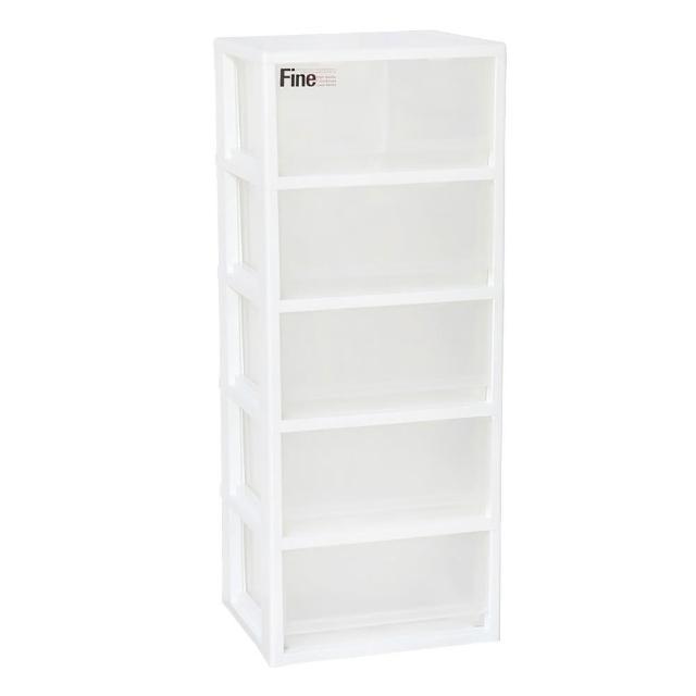 【SONA MORE】透白五層收納置物櫃(4大抽2小抽)