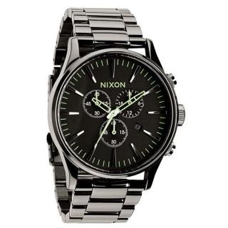 【NIXON】The SENTRY CHRONO 藍調搖滾潮流運動腕錶-亮黑(A3861885)