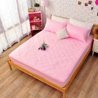 【Margaery】100%防水保潔墊(粉色床包雙人)
