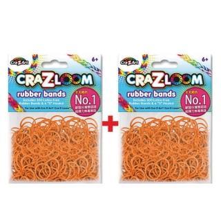 【美國Cra-Z-Art】Cra-Z-Loom彩紅圈圈編織 橡皮筋補充包 橘黃x2包(共600條)