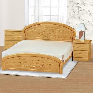 【時尚屋】赤陽木床片型5.3尺雙人床(063-4)