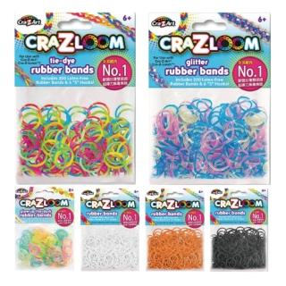 【美國Cra-Z-Art】Cra-Z-Loom彩紅圈圈編織 橡皮筋補充包C款(6包 共1500條)