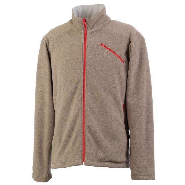 【Vital Silver 銀盾】男AIRPLUS 仿羊絨保暖剪接外套(卡其色)超值推薦