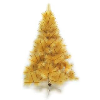 【聖誕樹】台灣製7尺/7呎210cm特級金色松針葉聖誕樹裸樹-不含飾品-不含燈(.)/