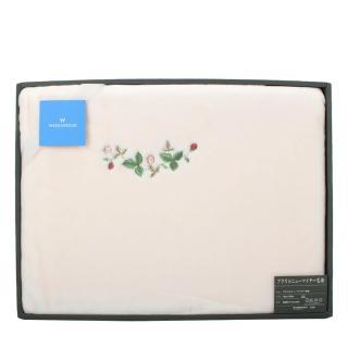 【WEDGWOOD】經典野草苺系列雪綿蓋毯禮盒(粉紅)