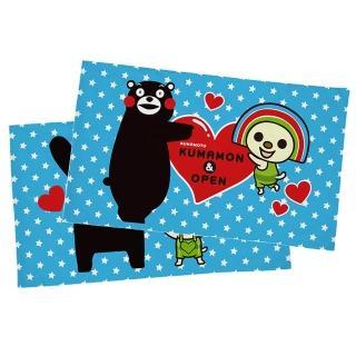 【享夢城堡】信封枕套2入(OPEN x 酷MA萌KUMAMON熊本熊 星星-藍)