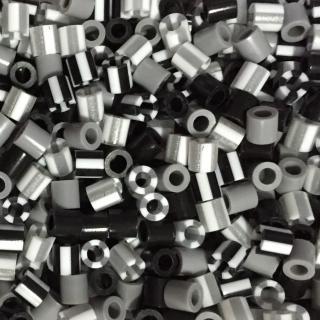 【Perler 拼拼豆豆】1000顆混色補充包-165黑白色系(特殊色)