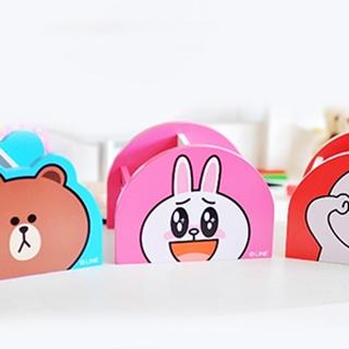 【MAY SHOP】超夯表情公仔系列熊大兔兔饅頭人單抽桌上型木製收納盒